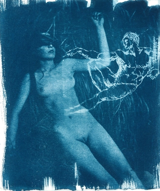 Lilith (cyanotype on paper)